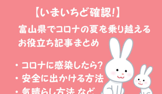 【いまいちど確認!】富山県でコロナの夏を乗り越えるお役立ち記事まとめ!】コロナ対策・家での過ごし方・気晴らし方法など!